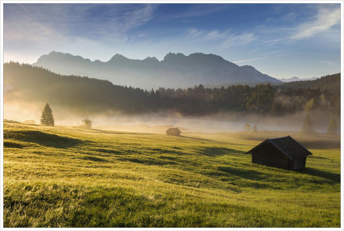 Ráno ujezera Geroldsee - fotografický workshop Malebné podzimní Bavorsko