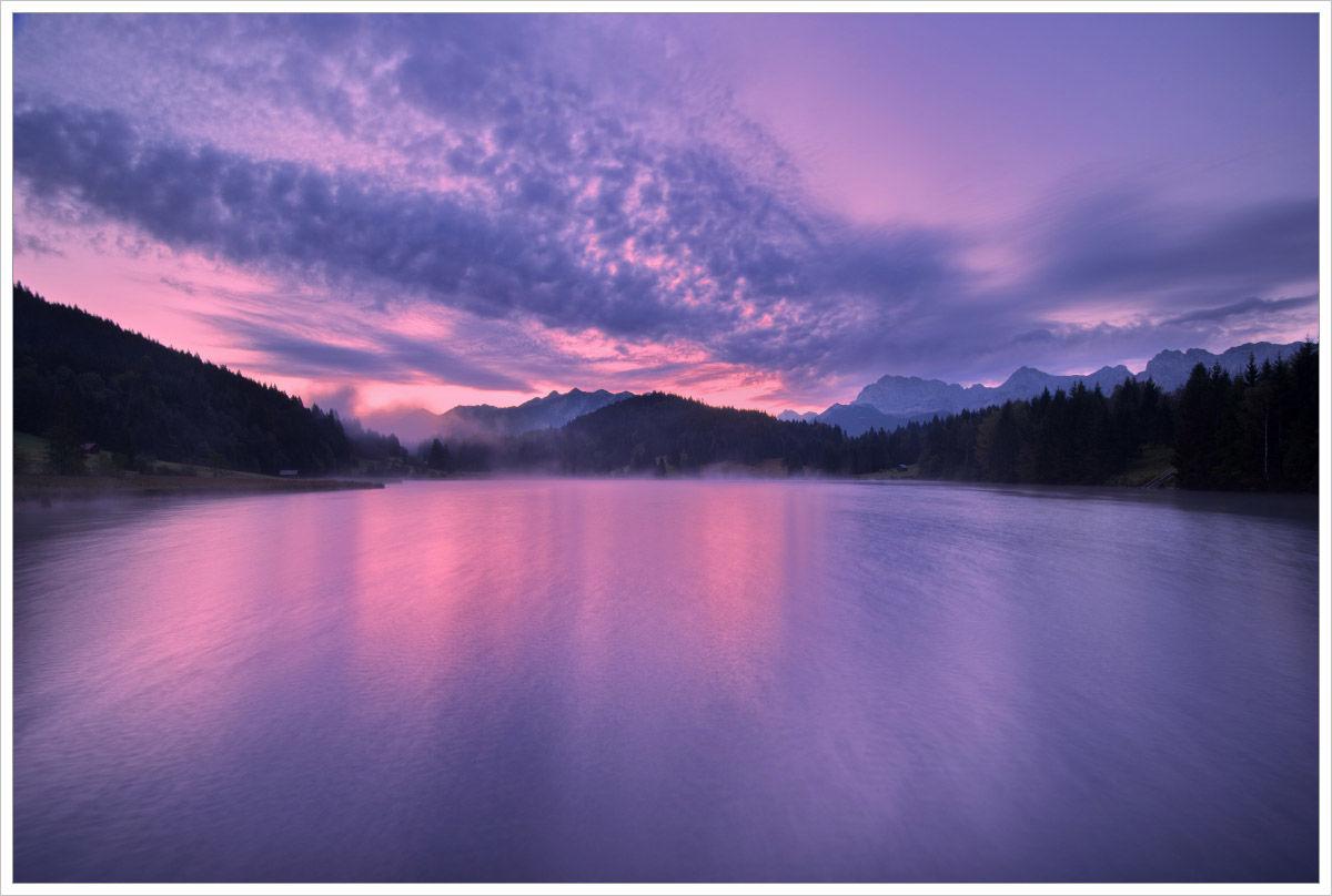 Modrá hodinka u Geroldsee - fotografický workshop Malebné podzimní Bavorsko