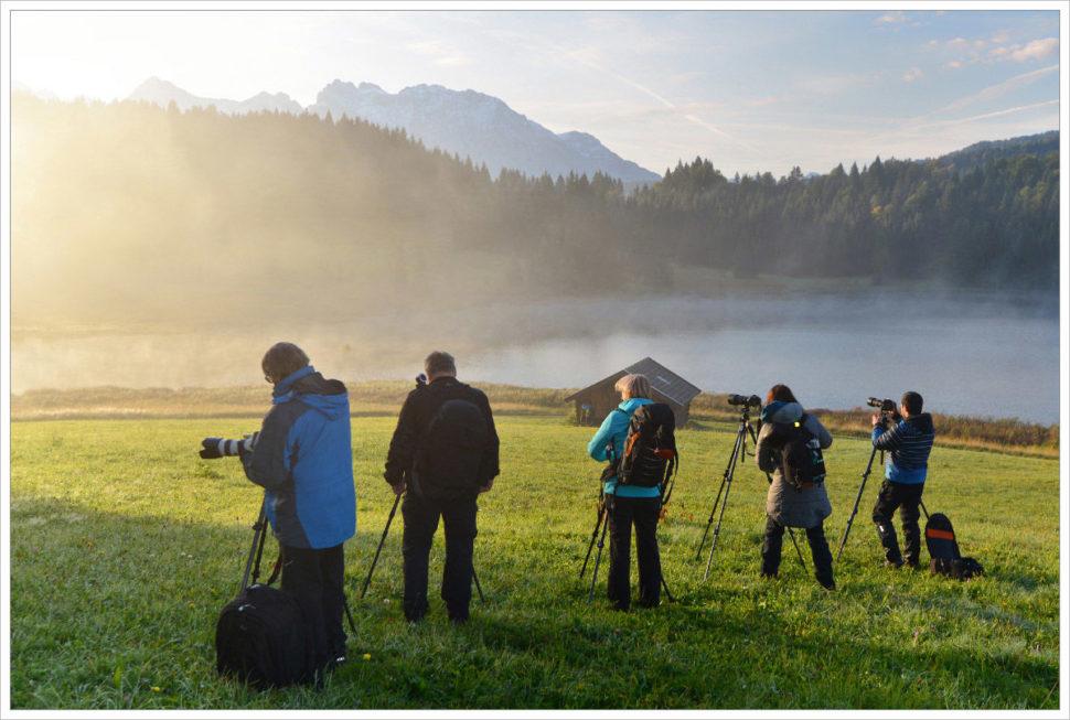 Ideální fotografické podmínky pro účastníky workshopu Phototours.cz - fotografický workshop Malebné podzimní Bavorsko