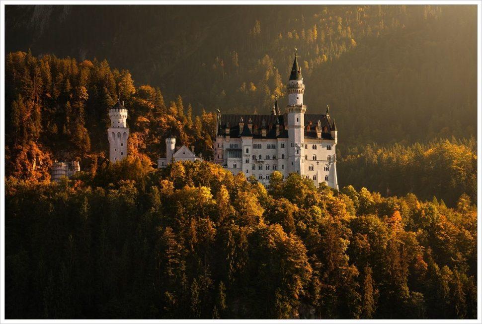 Zámek Neuschwanstein vpodzimních barvách - fotografický workshop Malebné podzimní Bavorsko