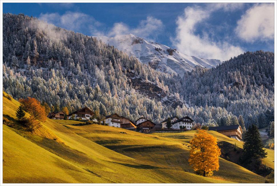 Podzim nebo zima - fotografický workshop Čarovné podzimní Dolomity