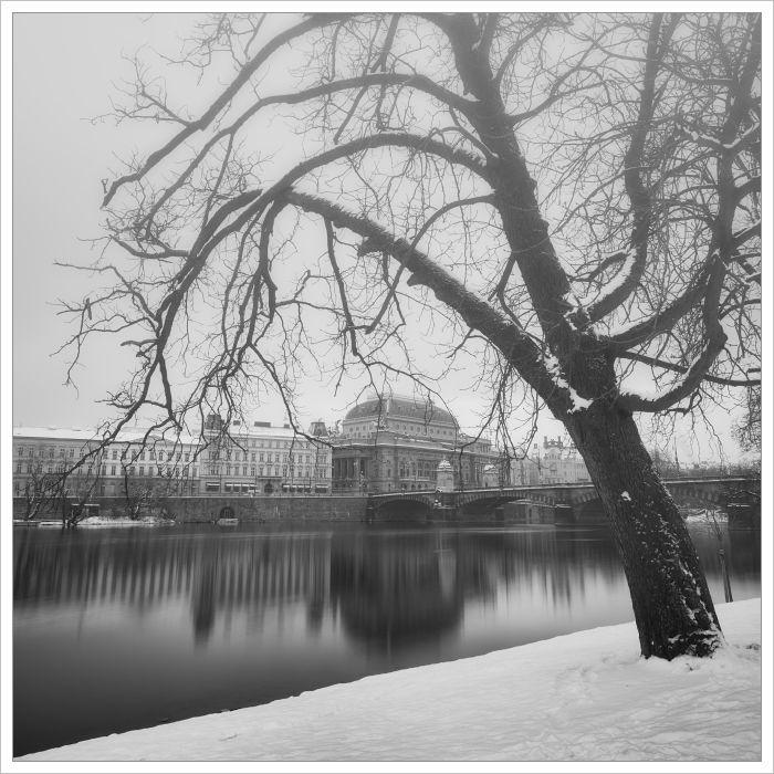 Národní divadlo - fotografický kurz Černobílá romantická Praha