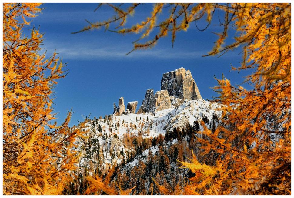 Podzimní Cinque Torri - fotografický workshop Čarovné podzimní Dolomity