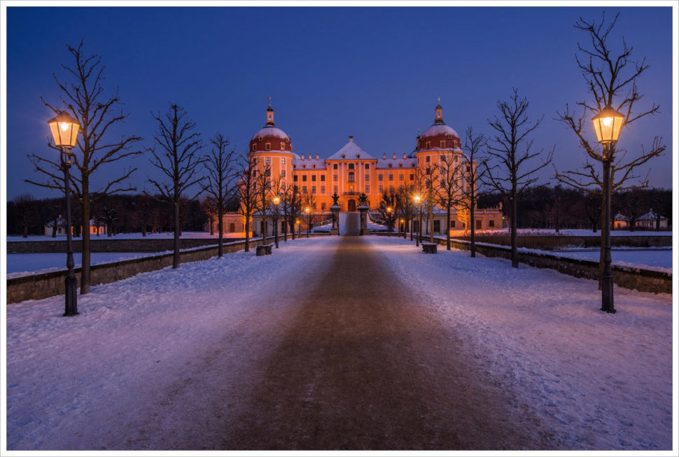 Bílé ráno uzámku Moritzburg - fotografický workshop Drážďany, Moritzburg aMíšeň