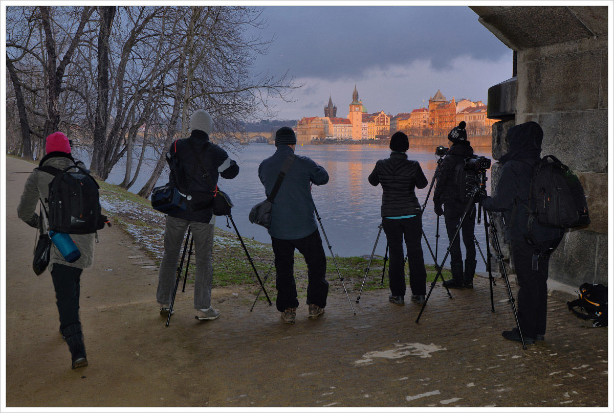 Takto se fotí na kurzech Phototours.cz - fotografický kurz Černobílá romantická Praha