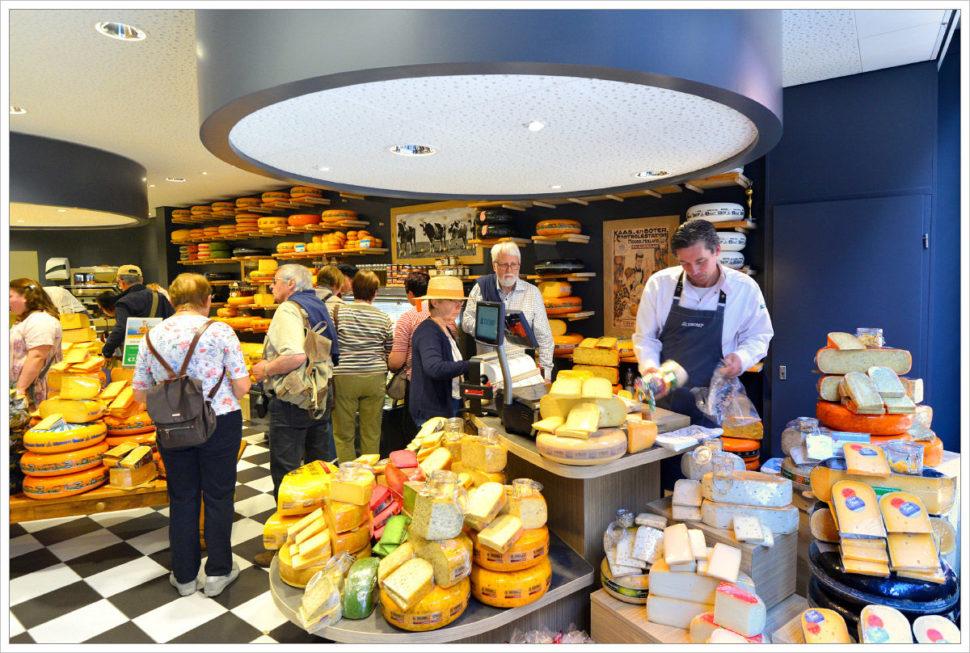 Prodejna sýrů vAlkmaaru - fotografický workshop Rozkvetlé jarní Holandsko