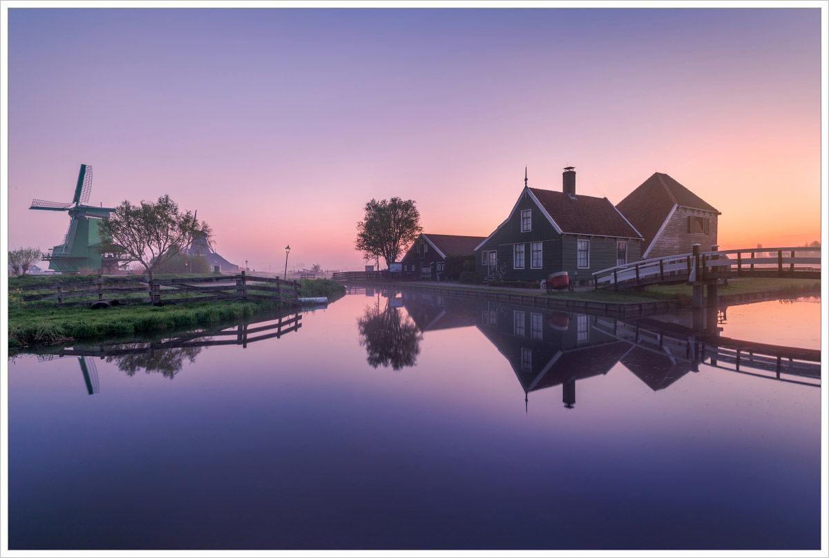 Mlhavé ráno vZaanse Schans - fotografický workshop Rozkvetlé jarní Holandsko