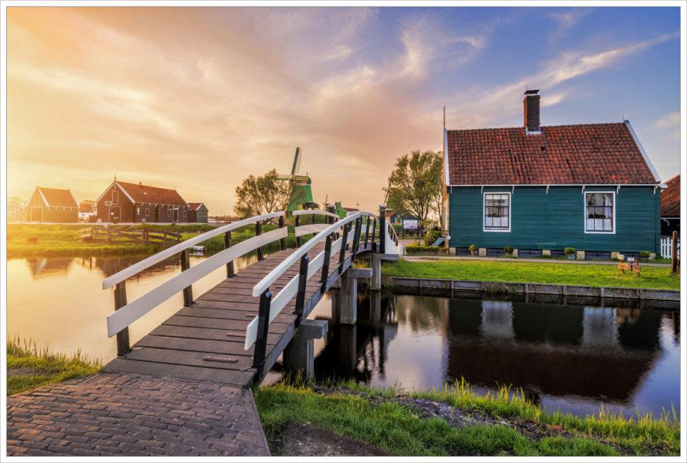 Ráno ve skanzenu Zaanse Schans - fotografický workshop Rozkvetlé jarní Holandsko
