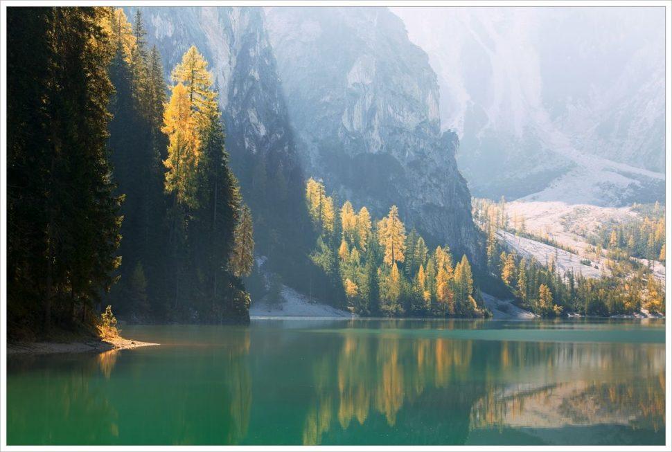 Jezero Lago di Braies - fotografický workshop Čarovné podzimní Dolomity