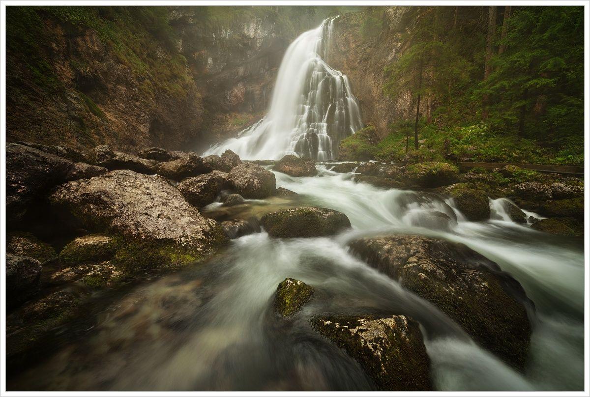 Vodopád Gollinger Wasserfall - fotografický workshop Jezera avodopády Rakouska