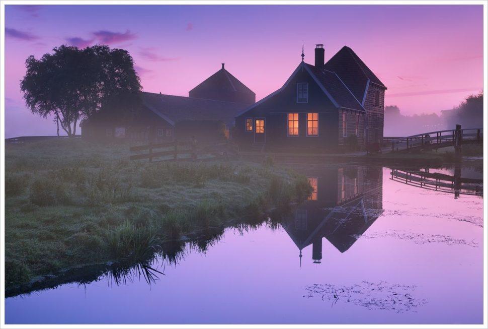 Malebný domek vZaanse Schans - fotografický workshop Rozkvetlé jarní Holandsko