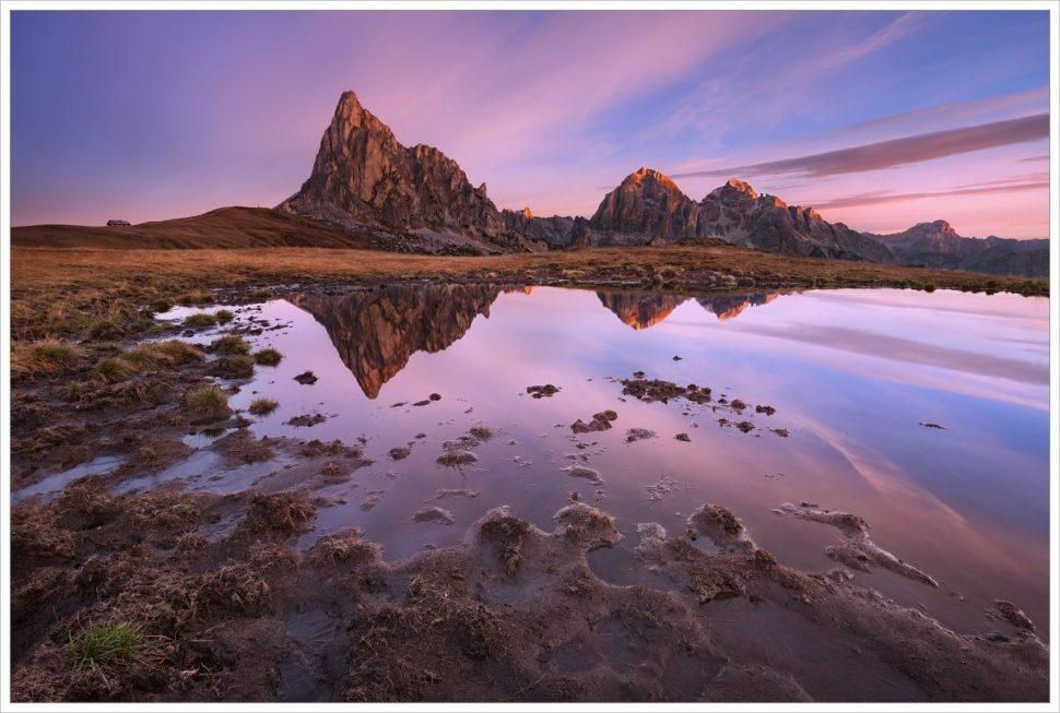 Zrcadlení alpských štítů - fotografický workshop Čarovné podzimní Dolomity