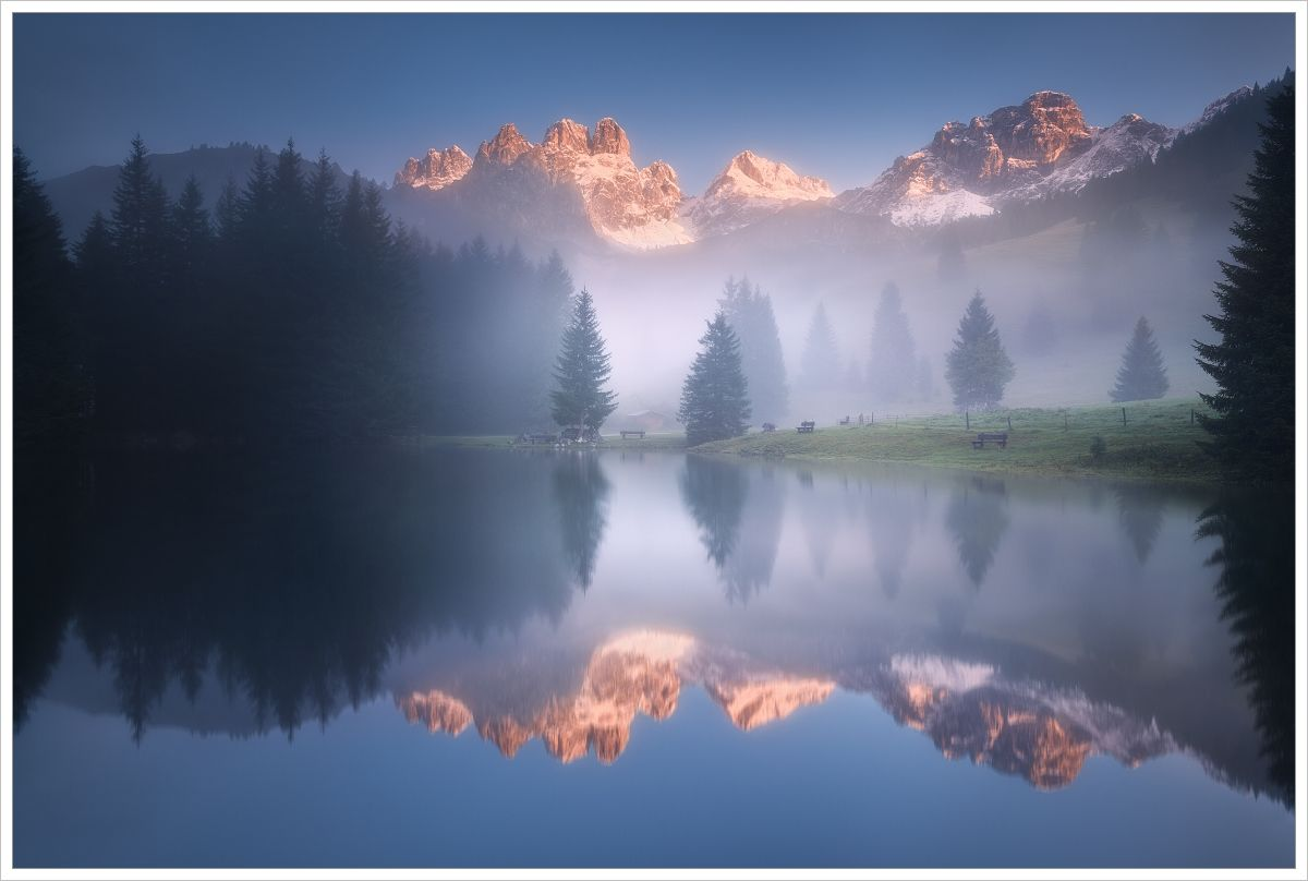 Magické ráno uhorského jezera Almsee - fotografický workshop Jezera avodopády Rakouska