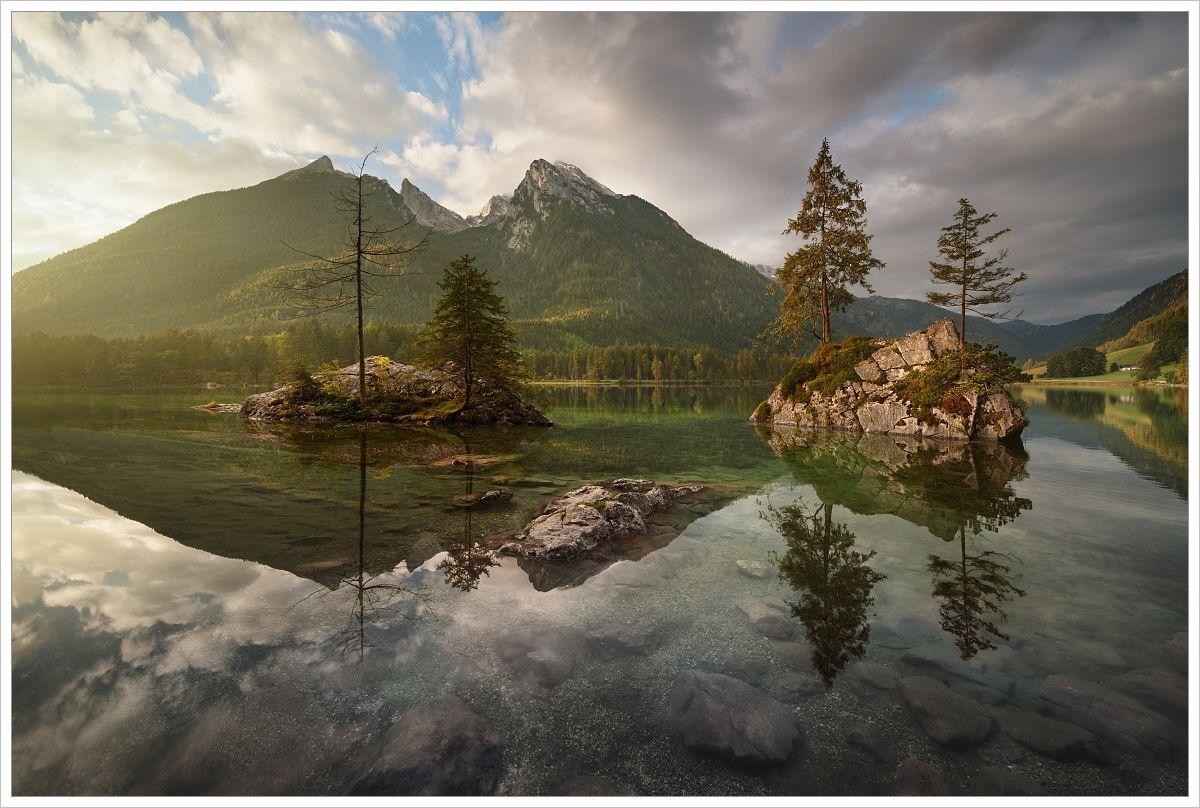 Ráno ujezera Hintersee - fotografický workshop Jezera avodopády Rakouska
