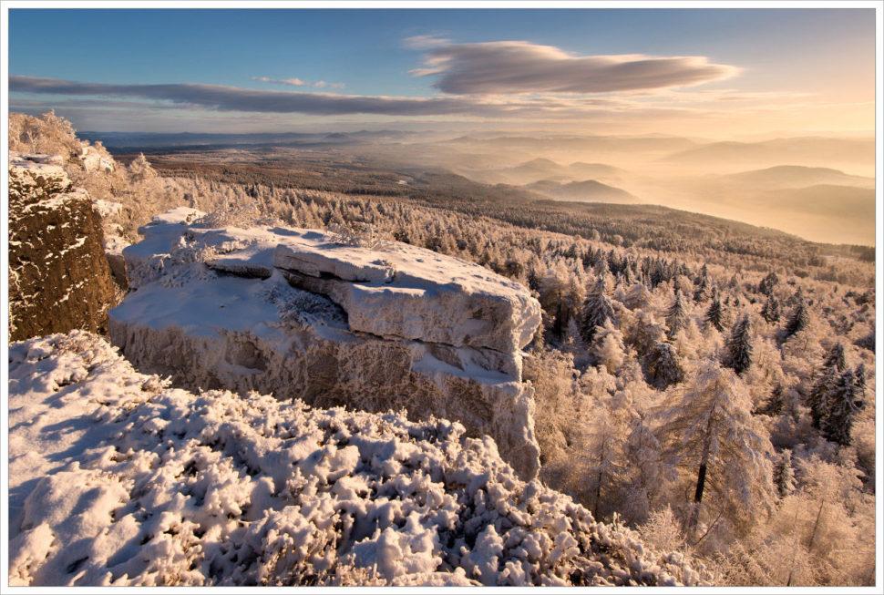 Zimní výhled od Děčínského Sněžníku - fotografický workshop Labské pískovce aKrušné hory