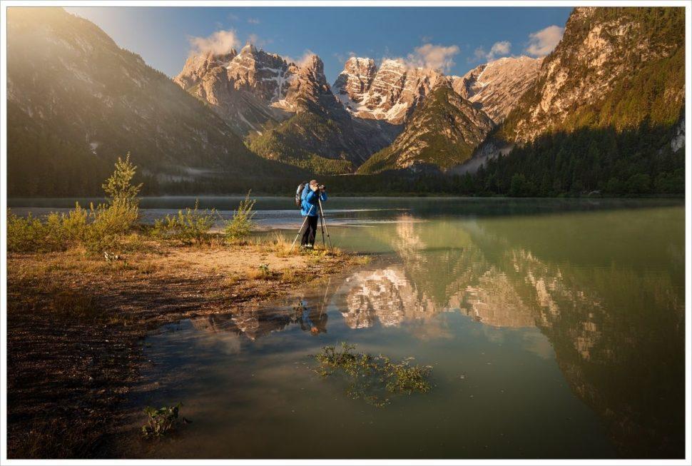 Fotograf na Lago di Landro - fotografický workshop Rozkvetlé letní Dolomity
