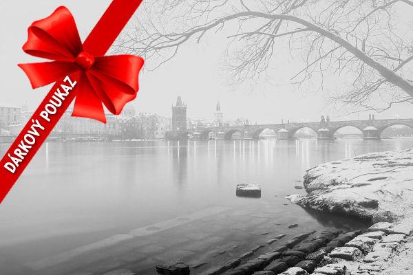 Dárkový poukaz nafotokurz Předvánoční černobílá Praha