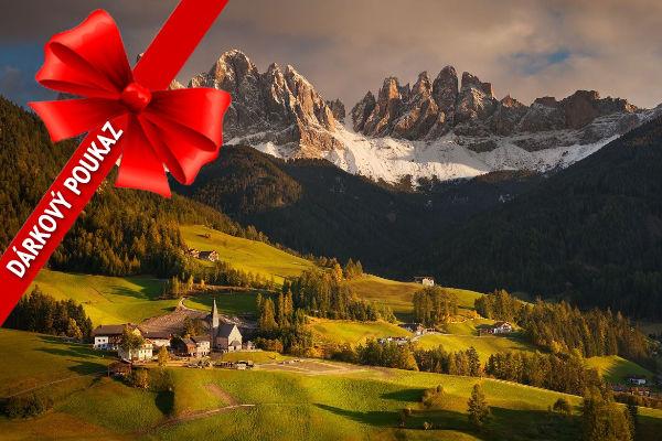 Dárkový poukaz nafotografický workshop Čarovné podzimní Dolomity