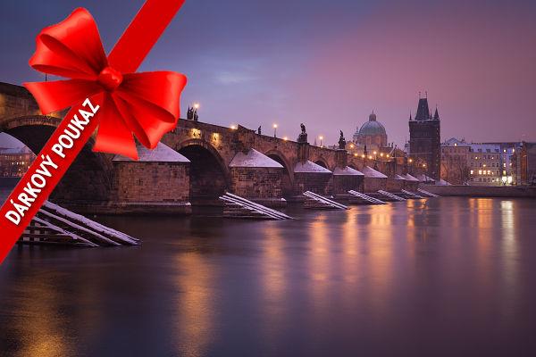 Dárkový poukaz s motivem Karlova mostu v Praze