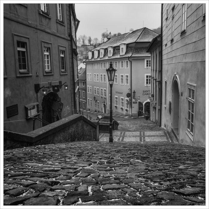 Historické dlážděné uličky naMalé straně - Fotografický workshop Magická zimní Praha