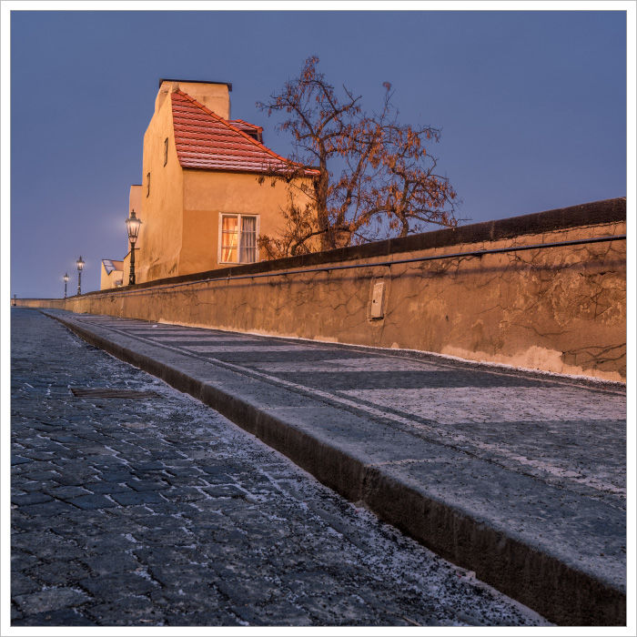 Pohled od Radnických schodů - Fotografický workshop Magická zimní Praha