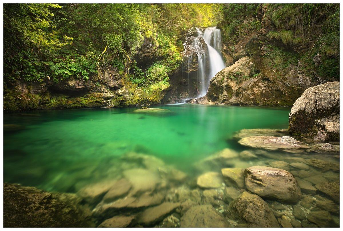 Vodopád Šum vsoutěsce Vintgar - fotografický workshop Pohádkové podzimní Slovinsko