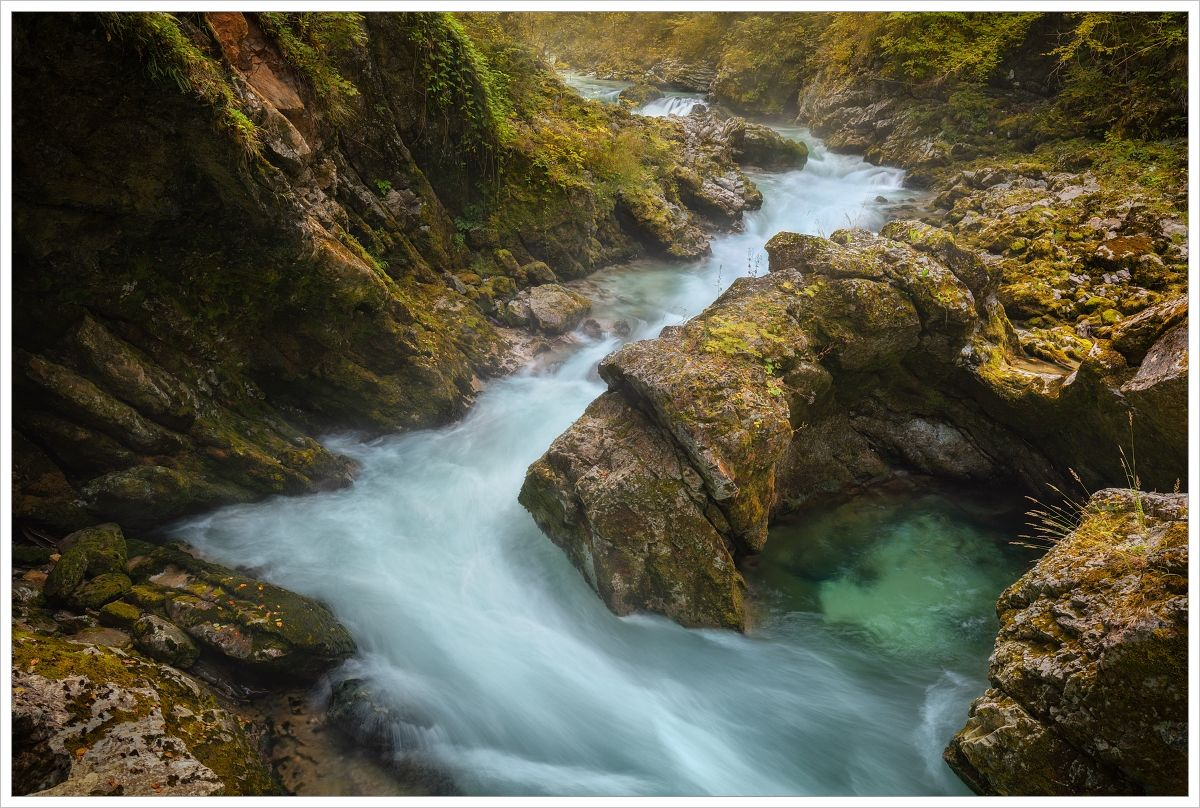 Vápancová soutěska Vintgar - fotografický workshop Pohádkové podzimní Slovinsko